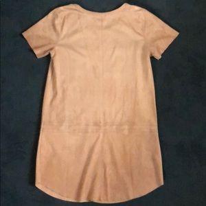 Mocha Faux Suede Shirt Dress (small)